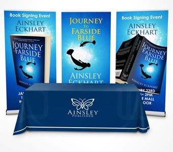 Table Throw Mockup Book Signing Event Book Signing Poster Mockup
