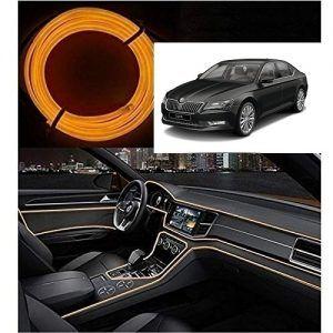 Skoda Superb Car Dashboard 5m Car Interior Light Orange Skoda