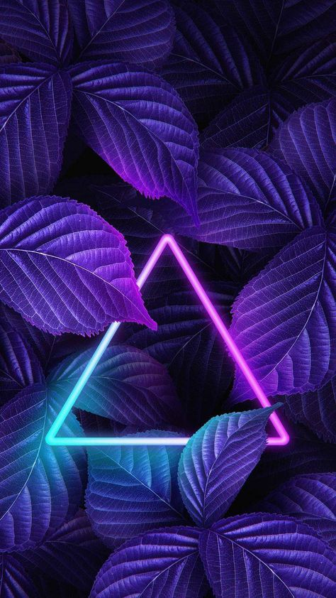 Neon Triangle Foliage Nature iPhone Wallpaper - iPhone Wallpapers