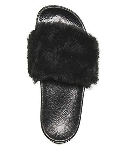 f6ccdd22d541b Amazon.com | NewYouDirect House Slippers for Women, Fur Sandals Flip ...