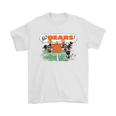 7080e79c5a48 The Peanuts Cheering Go Snoopy Chicago Bears Shirts
