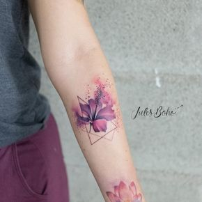 Watercolor Aquarelltattoos Von Jules Boho Linzer Tattooatelier