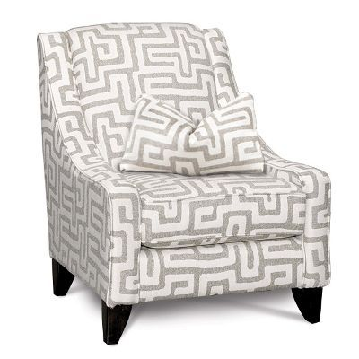Contemporary Oatmeal Cream Accent Chair Renegade Upholstered