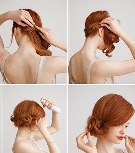 15 Einfache Styling Ideen Fur Den Dutt Seitlicher Tiefer Dutt Im Vintage Style Selbstgemachte Frisuren Dutt Frisur Haar Styling