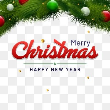 Happy New Year And Merry Christmas Lettering With Decoration Merry Christmas Decorative Snowflake Png And Vector With Transparent Background For Free Downlo