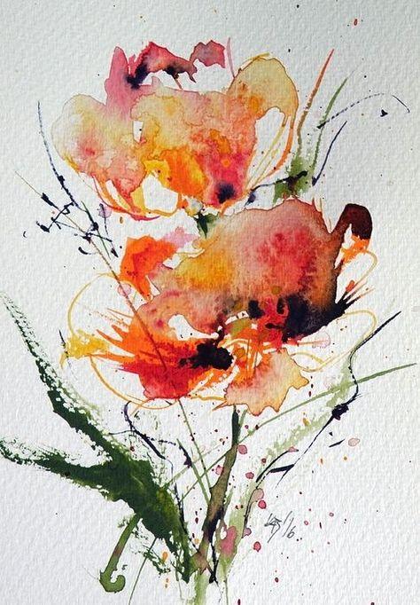Idee Par Flo Sur Art Tableau En 2020 Aquarelle Abstraite