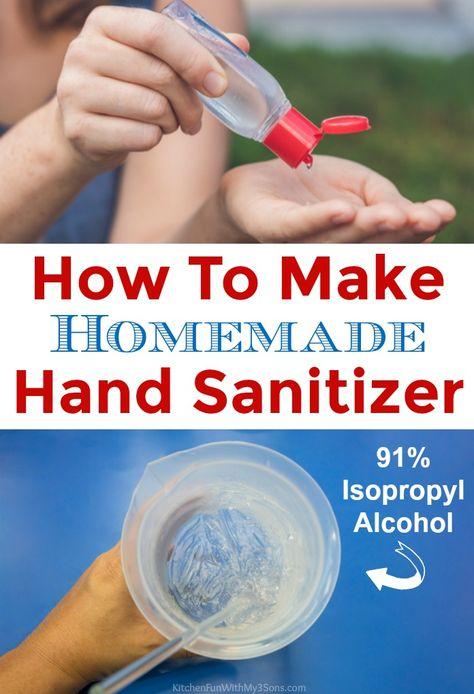 How To Make Homemade Hand Sanitizer Hand Sanitizer Hand