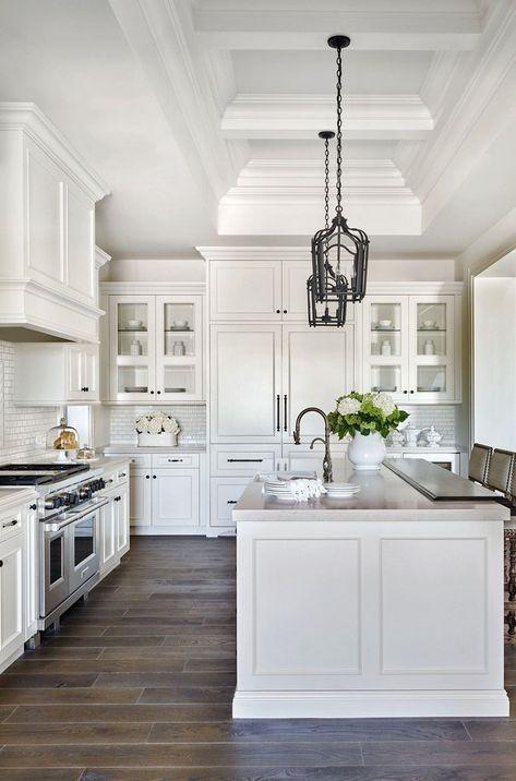 40 Awesome Galley Kitchen Remodel Ideas Design Inspiration In 2020 Farmhouse Kitchen Design Gorgeous White Kitchen White Kitchen Design