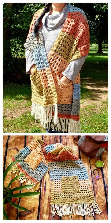 Crochet Shawls And Wraps, Crochet Scarves, Crochet Yarn, Crochet Stitches, Crochet Hooks, Free Crochet, Loom Knitting, Knitting Patterns, Crochet Patterns