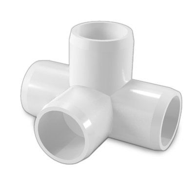 Furniture Grade Blue 3//4 Size Pack of 8 FORMUFIT F0344WT-BL-8 4-Way Tee PVC Fitting