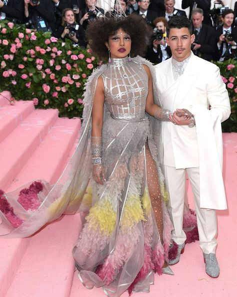 "Dior Official on Instagram: ""Actress @PriyankaChopra and singer, songwriter and actor @NickJonas turned heads in Dior at the Camp-themed Met Gala in New York —…"""
