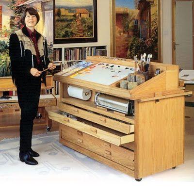 Chevalet de peinture bois et Table a dessin Meuble atelier du0027art - peinture pour relooker meuble en bois