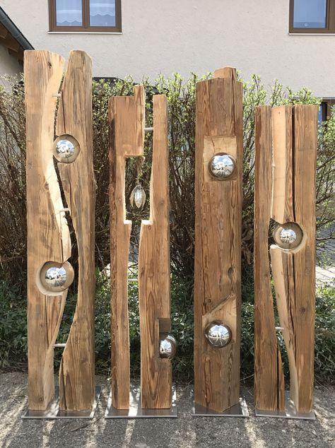 Pin By Barbara On Garten Deko Wood Diy Wood Projects Metal Garden Art