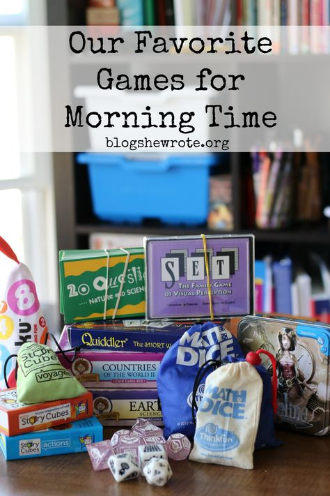 Our Favorite Learning Games for Morning Time