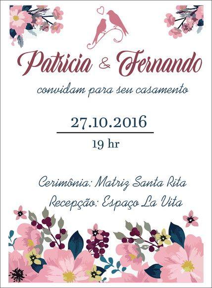 Compre Arte Digital Convite De Casamento No Elo7 Por R 20 00 Com
