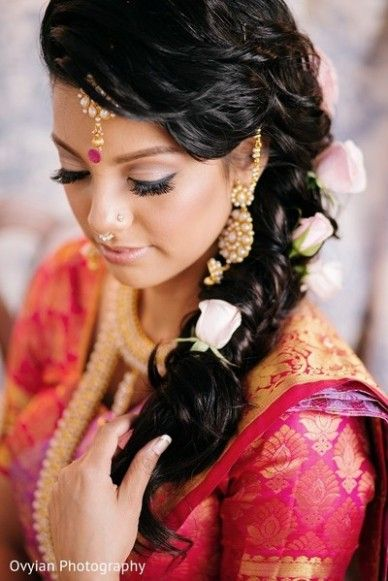 Hairstyle For Indian Wedding Guest In 2020 Bridal Hairstyle For Reception Indian Bridal Hairstyles Indian Wedding Hairstyles