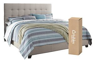 Dolante Queen Upholstered Bed With 10 Memory Foam Mattress In A Box Beige Large Queen Upholstered Bed Upholstered Beds King Upholstered Bed
