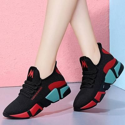 Women casual breathable sneakers lightweight Walking lace up