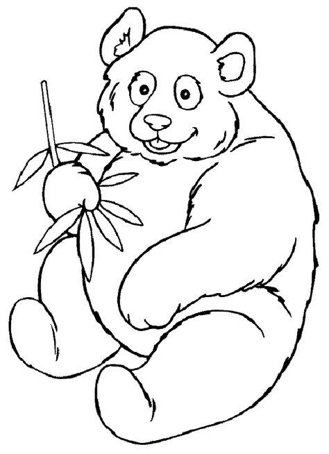 Panda Boyama Sayfasi Hayvan Boyama Sayfalari Boyama Kitaplari