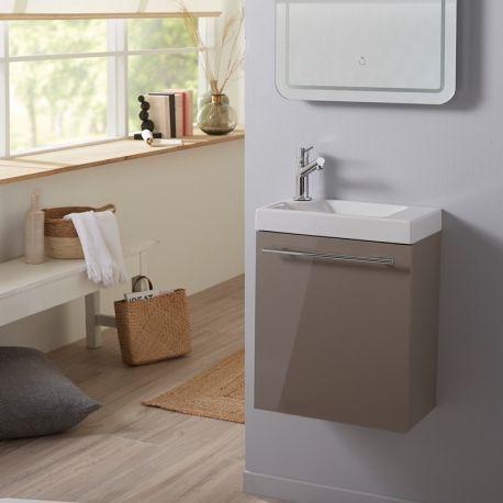 Meuble Lave Mains Complet Couleur Daim Pour Wc Design Meuble Lave Main Lave Main Meuble Sous Lavabo