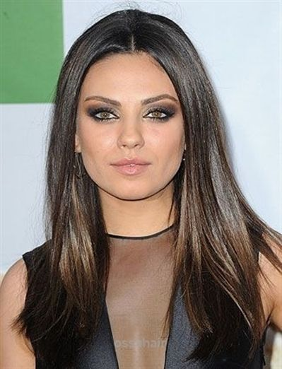 10 Flattering Hairstyles For Round Faces Daily Makeover Mila Kunis Super Sle Hair Styles Long Face Shapes Easy Hairstyles For Medium Hair