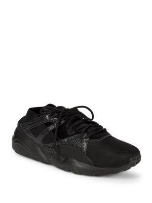 Puma Bog Sock Snake Sneakers In Black