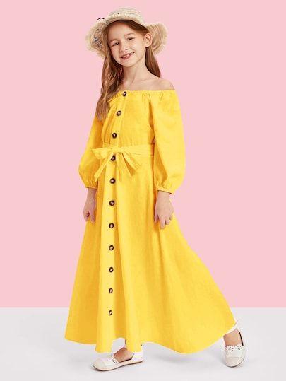 hot sale online ff795 f43e2 Mädchen Kleider | SHEIN | sachen in 2019 | Kleider, Mädchen ...
