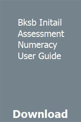 Bksb Initail Assessment Numeracy User Guide Exam Study