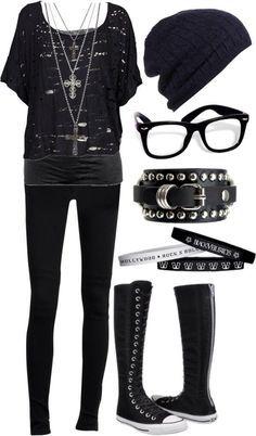 Emo fashion style dress