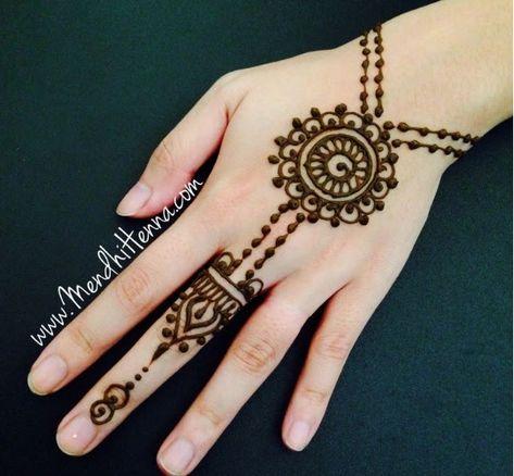 Cara Melukis Henna Sendiri Simple di 2020 | Mehndi designs, Desain ...