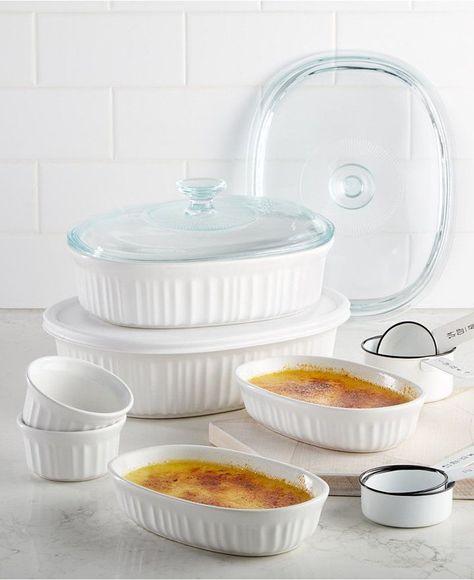 Corningware French White 10 Pc Bakeware Set Bakeware Kitchen Items