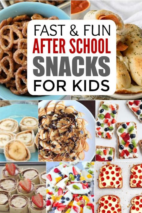Check out these 25 fun after school snacks for kids. Even the pickiest eaters will love these. They are healthy and delicious! Snacks for kids After School Snacks for Kids - 25 Fun AFter School Snacks Healthy Afterschool Snacks, Healthy Bedtime Snacks, Healthy Afternoon Snacks, Lunch Snacks, Clean Eating Snacks, Healthy School Snacks, Cheap Easy Healthy Snacks, Healthy Breakfasts, Diet Snacks