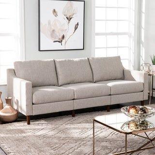 Harper Blvd Davis Transitional Beige Fabric Sofa Beige Living