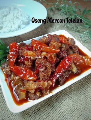 Oseng Mercon Tetelan Resep Masakan Makanan Dan Minuman Resep Makanan