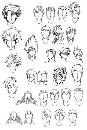 Como Dibujar Cabello Anime De Hombre Buscar Con Google Como Dibujar Animes Dibujos De Peinados Boceto De Pelo