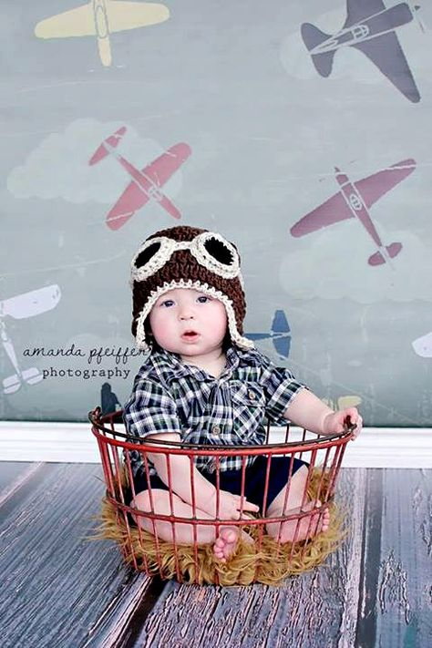 3ft x 3ft Airplane Theme Photo Backdrop for Kids Photo Shoots - Vinyl Photography Back Drop - Item 1437