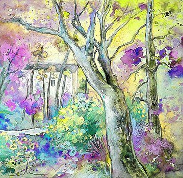 Miki De Goodaboom Tarbes 01 Landscape Paintings Acrylic