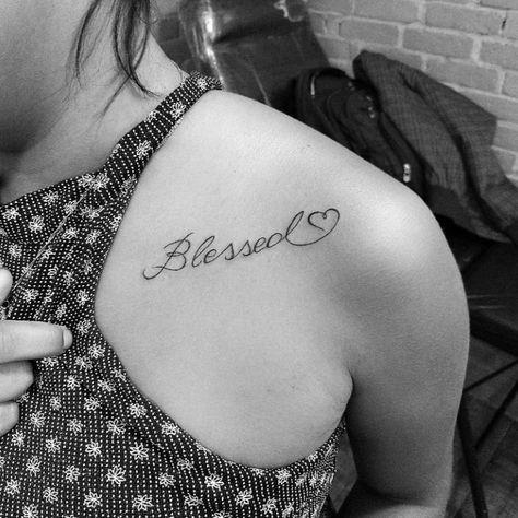 Tatuagem blessed: 50 inspirações para uma tattoo abençoada