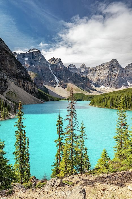 Canadian Rocky Mountains Iconic Landscape Moraine Lake By Pierre Leclerc Photography Landscape Photography Nature Landscape Mountain Paintings