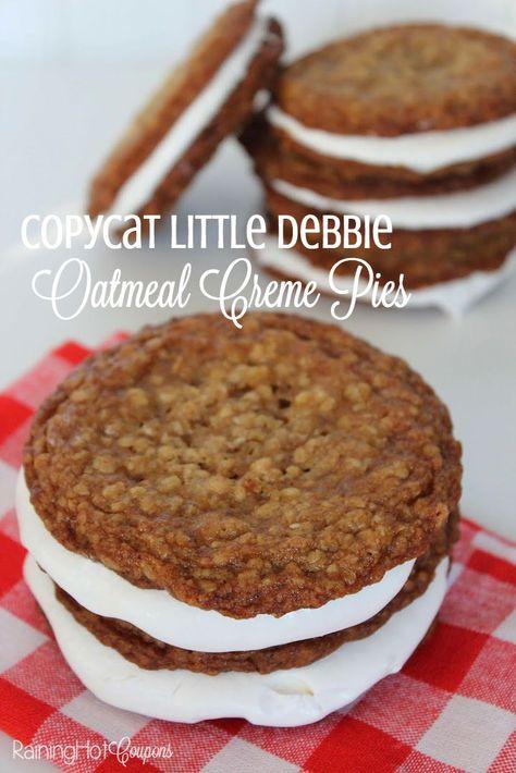 Copycat Little Debbie Oatmeal Creme Pies Recipe Oatmeal Creme Pie Recipes Delicious Desserts