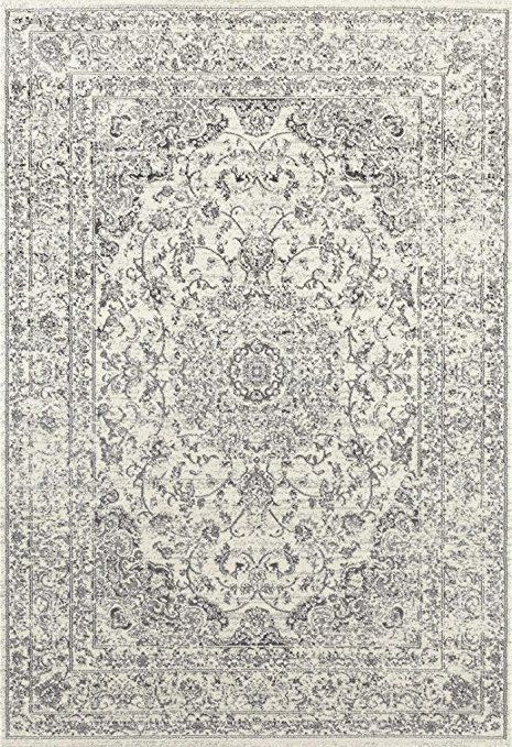 Affiliate Great Price Farmhouse Rug 3212 Distressed Silver 7