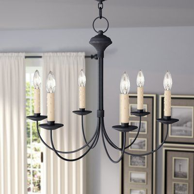 Darby Home Co Eberhart 6 Light Candle Style Classic Traditional Chandelier Traditional Chandelier Candle Style Chandelier Chandelier