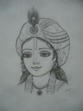 Pin By Kannika Sunil On Ancient Krishna Drawing Pencil Drawings