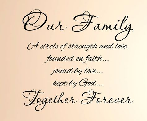 Our Family Together Forever Vinyl Wall by CustomFamilyCreation