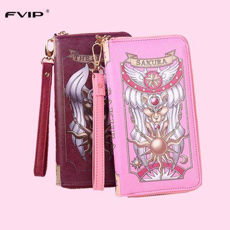 Cardcaptor sakura Wallet Handbag Women Clutch Long Wallet Card Holder Lady Purse