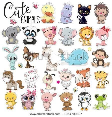 Adorable Images Stock Photos And Vector Graphics Baby Animal Drawings Cartoon Baby Animals Cartoon Drawings Of Animals