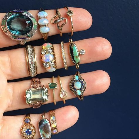 My love affair with antique jewelry began at a really young age when I'd hab.My love affair with antique jewelry began at a really young age when I'd habitually sift through and admire my mother's collection of gold and jade rings,