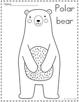 Arctic Animals Coloring Pages Arctic Animals Polar Bear