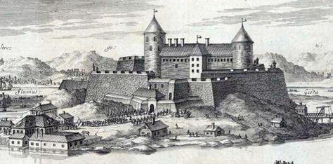 Bohus Slott på 1600-tallet.