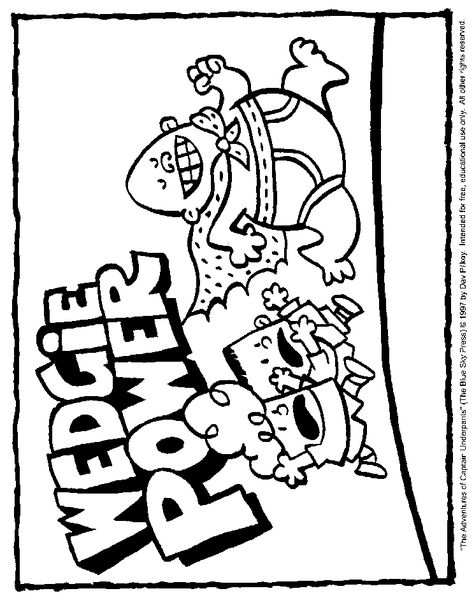Captain Underpants Wedgie Power Printable Coloring Page With
